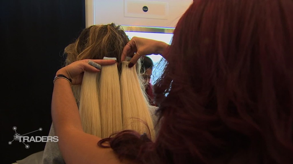 Where Do Celebrity Hair Extensions Come From Stock Sector